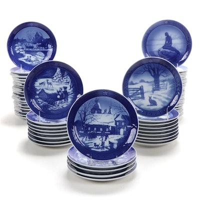 Royal Copenhagen Porcelain Annual Christmas Plates, 1962-2013