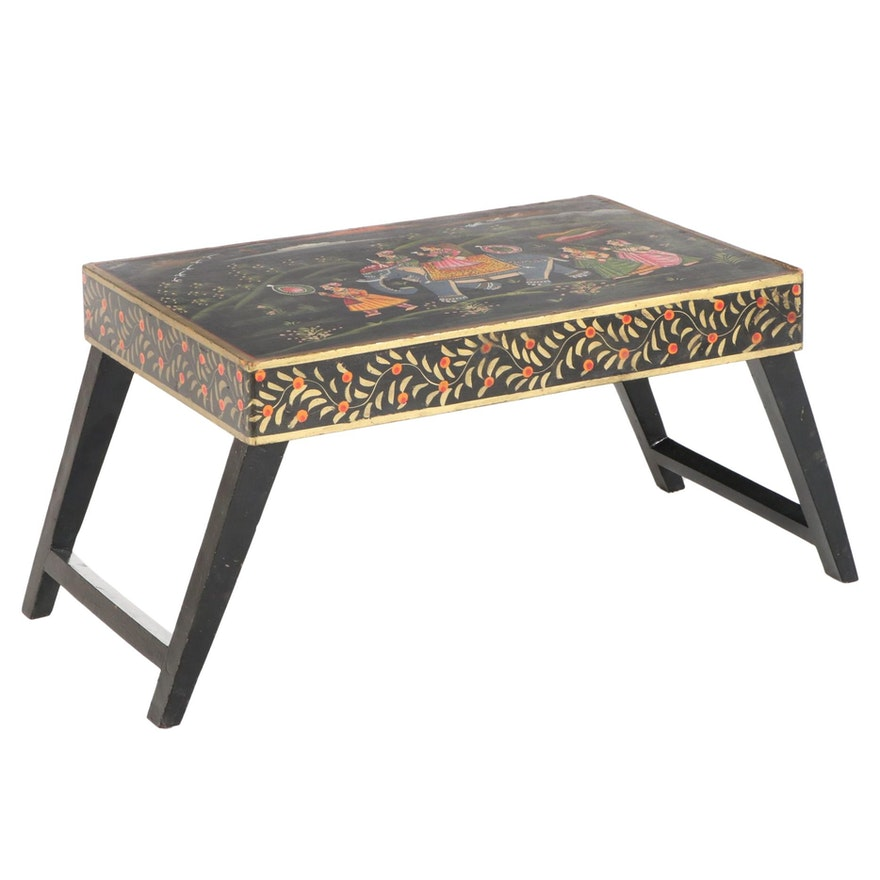 Rajasthani Style Paint-Decorated Folding Table