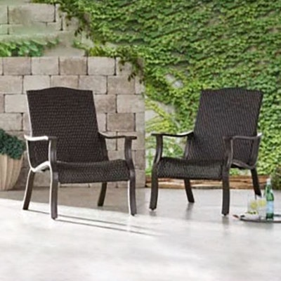 "Pair of Member's Mark ""Agio Heritage Collection"" Woven Adirondack Chairs"