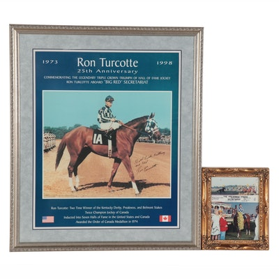 """Ron Turcotte Signed, 25th Anniversary """"Big Red"""" Poster & Signed Preakness Photo"""