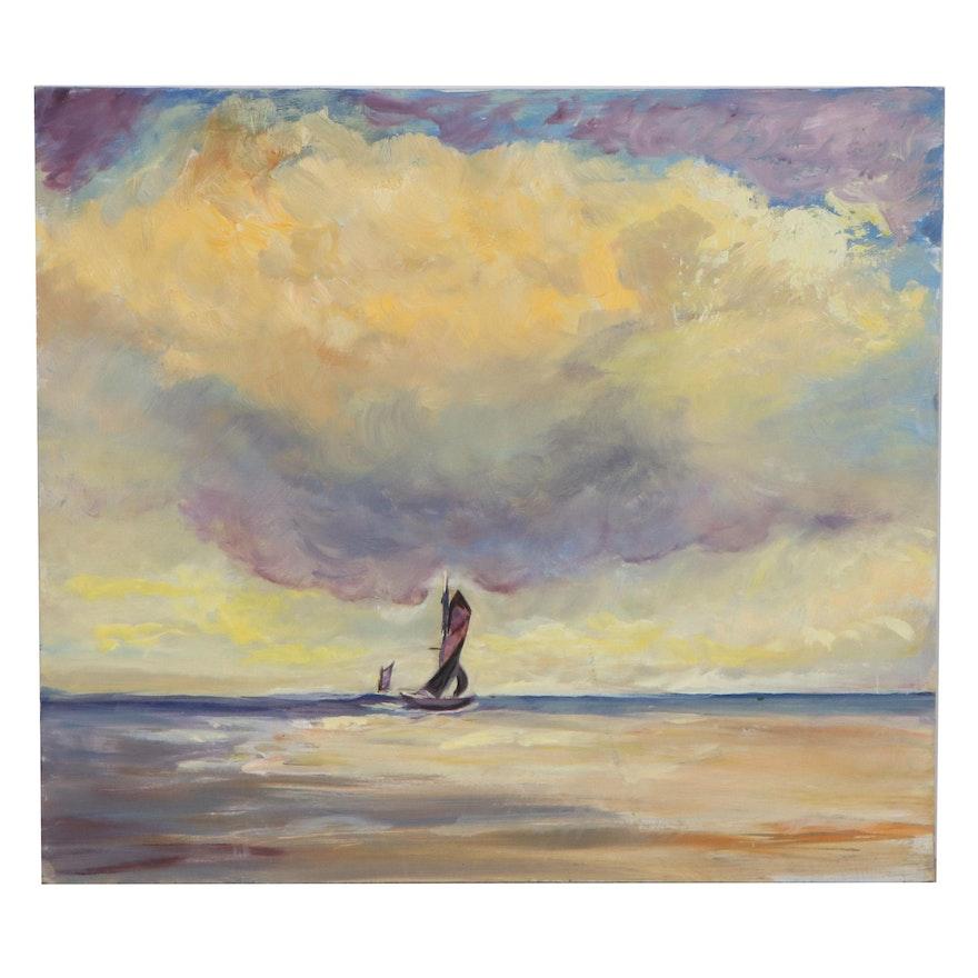 Elaine Neumann Nautical Seascape Oil Painting, 21st Century