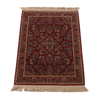 "4'4 x 6'11 Machine Made Karastan ""Red Sarouk"" Wool Area Rug"
