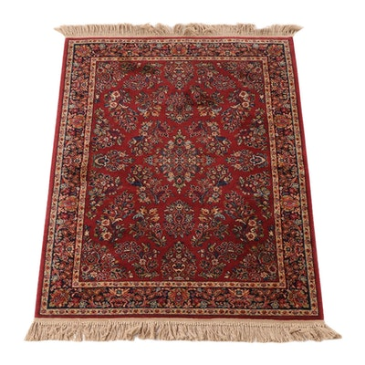 "4'4 x 6'9 Machine Made Karastan ""Red Sarouk"" Wool Area Rug"