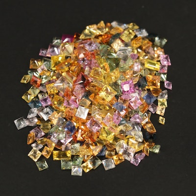 Loose Multi-Colored Square Faceted Sapphires