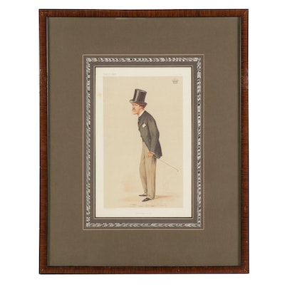 "Offset Lithograph after Vanity Fair ""Chesterfield Letter"""
