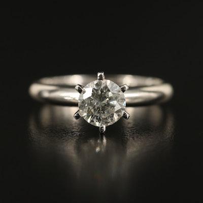 14K 0.88 CT Diamond Solitaire Ring