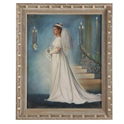 Bridal Portrait Embellished Photograph
