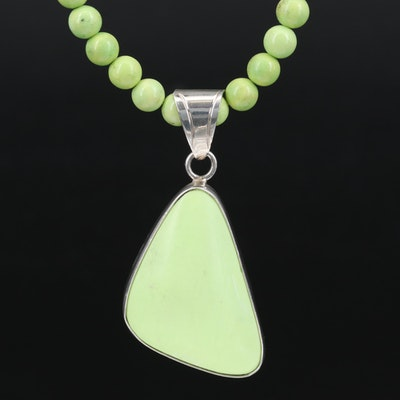 Sterling Magnesite Pendant Necklace