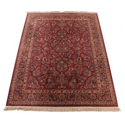 "8'9 x 12'9 Machine Made Karastan ""Red Sarouk"" Wool Room Sized Rug"
