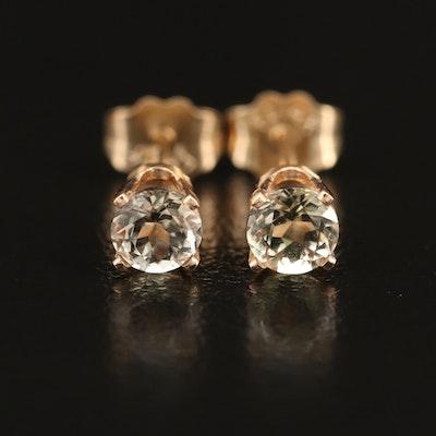 14K Zircon Stud Earrings