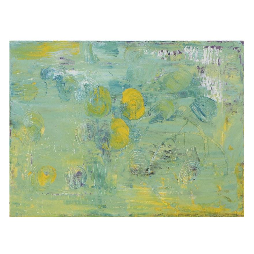 Elaine Neumann Abstract Mixed Media Painting