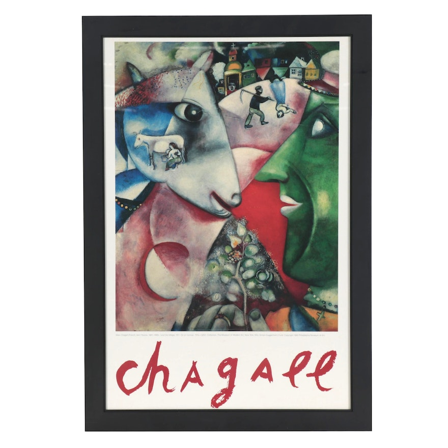 "Exhibition Poster after Marc Chagall Featuring ""I and the Village"""