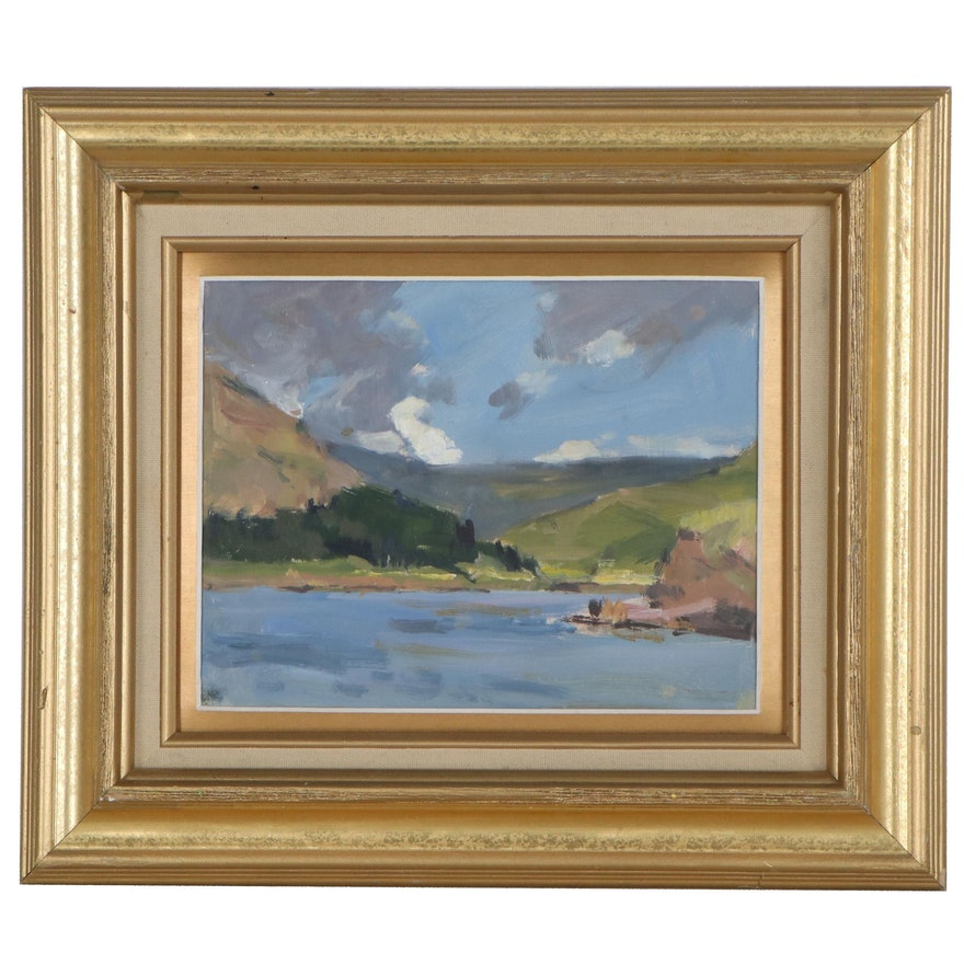 Gordon Radford Oil Landscape Painting, circa 2000