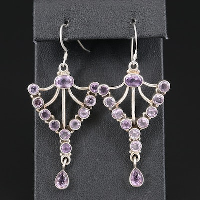 Sterling Amethyst Earrings with Drops