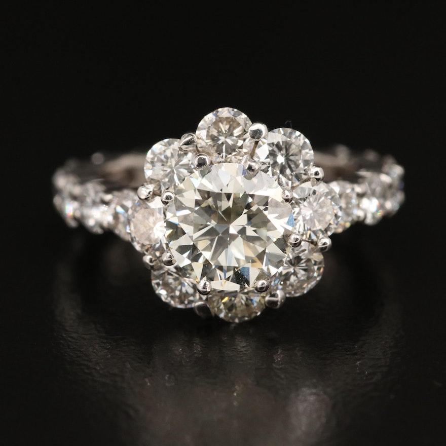14K 4.52 CTW Diamond Ring