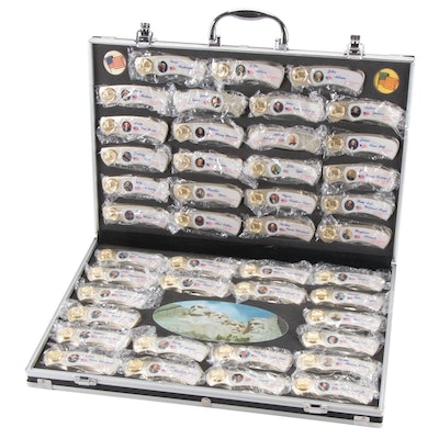 Folding Knife Set Featuring Forty-Three US Presidents