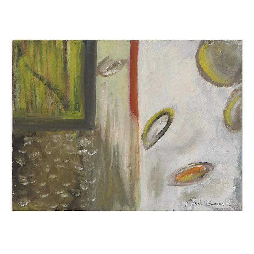 Elaine Neumann Abstract Oil Painting, 2010