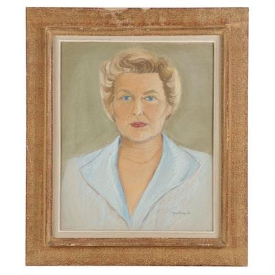 Jane Ross Pastel Portrait, 1956