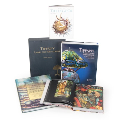 Tiffany Glass, Lamps, and Design Reference Books