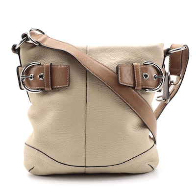 Coach Bucket Bag with Convertible Purse Strap in Pebbled and Smooth Leather