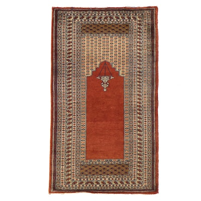 2'5 x 4'2 Hand-Knotted Pakistani Prayer Rug
