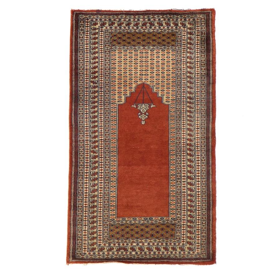 2'5 x 4'2 Hand-Knotted Pakistani Prayer Rug
