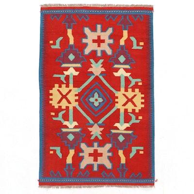3'11 x 6'4 Handwoven Afghan Kilim Area Rug