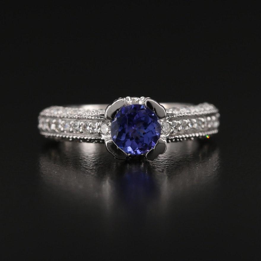 14K Tanzanite and 1.05 CTW Diamond Ring
