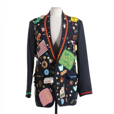 "Hand-Embellished ""The Real Nancy Drew"" Eagle University Jacket"
