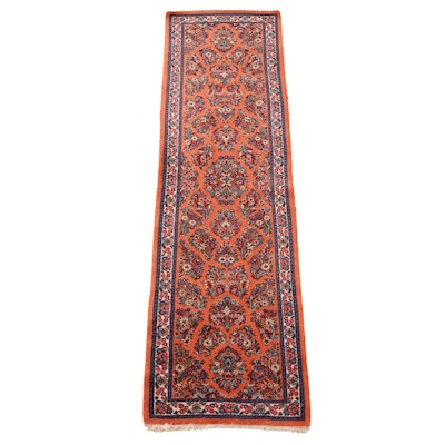 2'8 x 10'5 Hand-Knotted Persian Arak Wool Carpet Runner