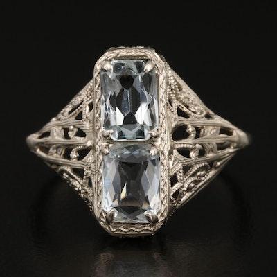 Edwardian 14K Aquamarine Ring