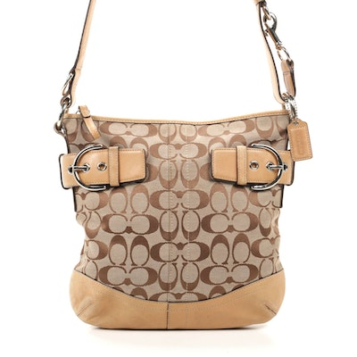 Coach Signature Canvas and Leather Shoulder Bag
