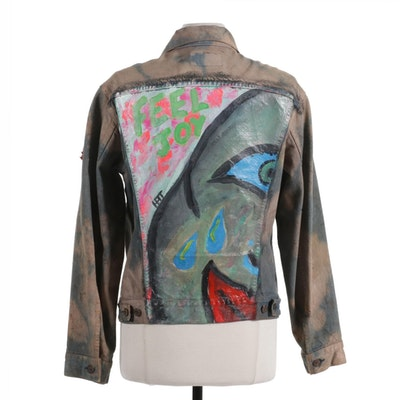 Levi Strauss & Co Hand-Painted and Embellished Denim Jacket
