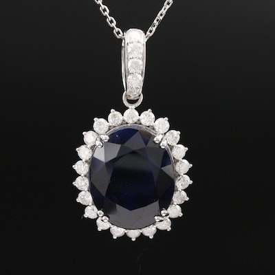 14K Corundum and 1.36 CTW Diamond Necklace