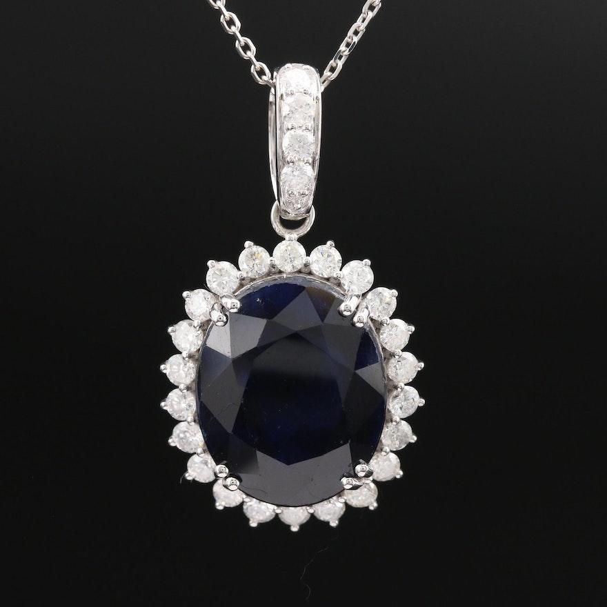 14K Corundum and 1.36 CTW Diamond Necklace