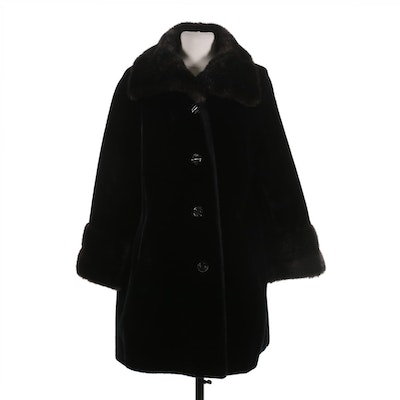 Sportowne Ultra-Seal Faux Fur Button-Front Coat with Wide Collar