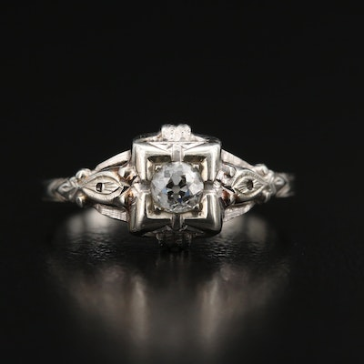 Circa 1930s 14K Diamond Ring