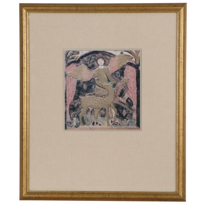 Offset Lithograph in the manner of Charles Prendergast