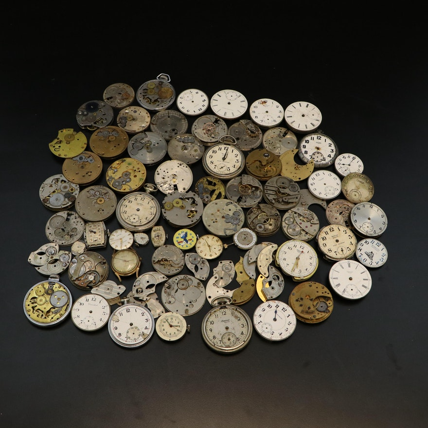 Generous Timepiece and Watch Part Selection