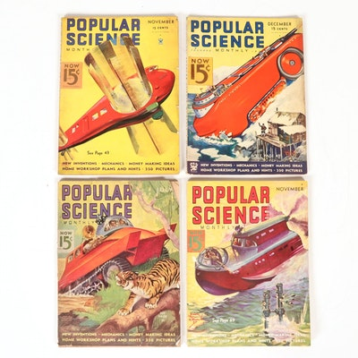 """Popular Science Monthly"" Magazine Issues, 1930s"