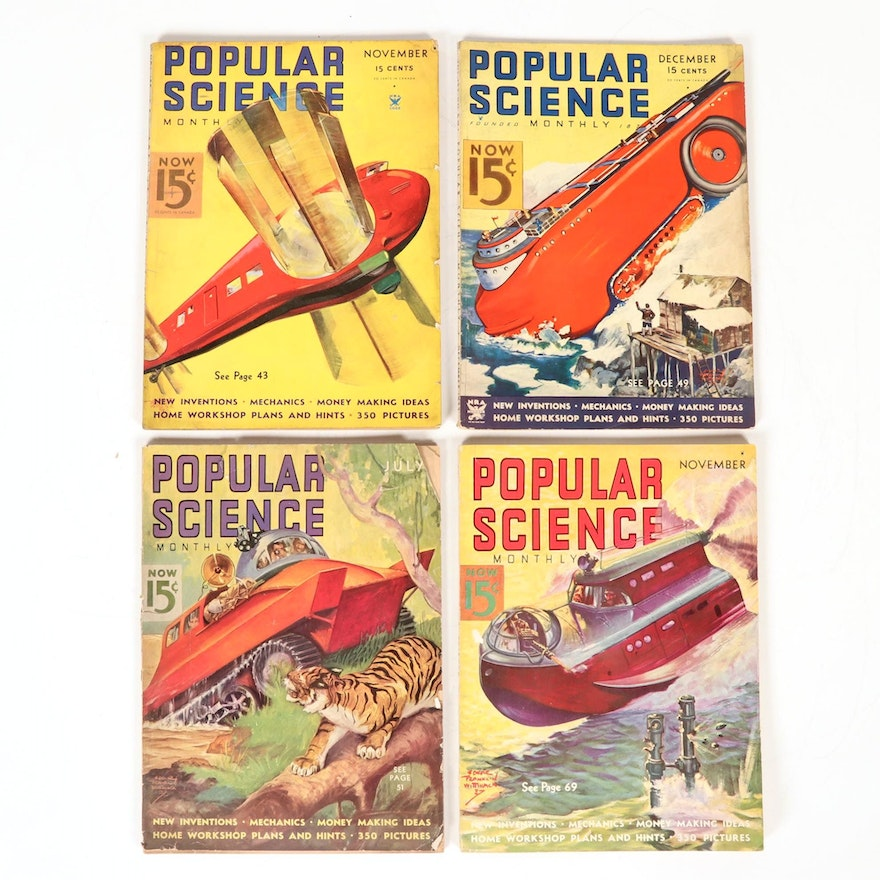 """""""Popular Science Monthly"""" Magazine Issues, 1930s"""