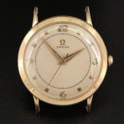 1950 Omega 14K Yellow Gold Stem Wind Wristwatch