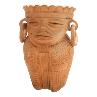 Central American Style Figural Terracotta Planter