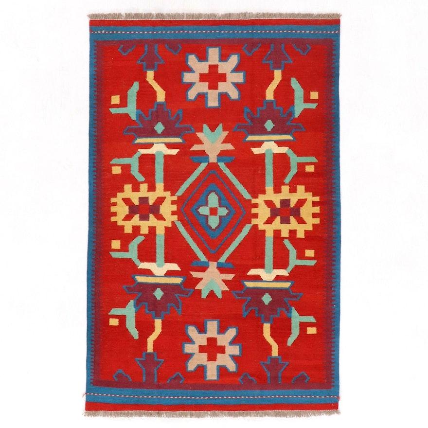 4' x 6'4 Handwoven Afghan Kilim Area Rug