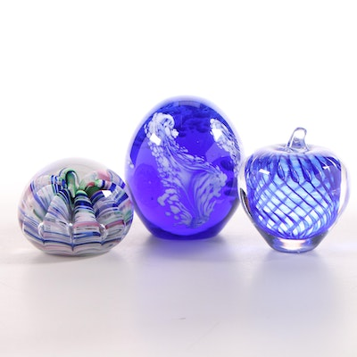 Joe Rice and Other Art Glass Paperweights