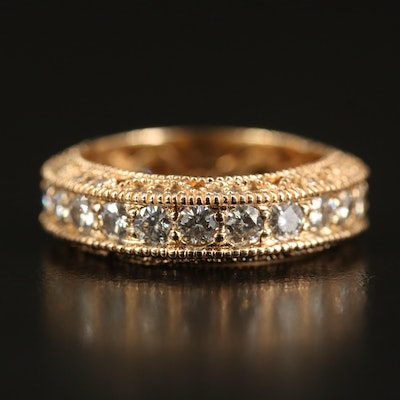14K Moissanite and Diamond Band
