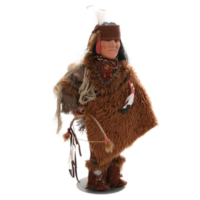 Duek House Porcelain Native American Style Limited Edition Doll