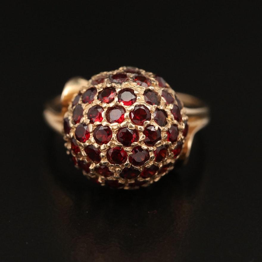 Vintage 14K Garnet Dome Ring