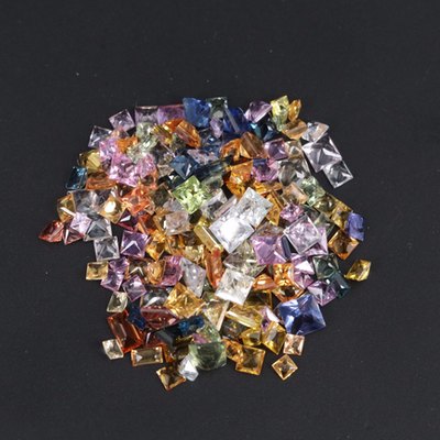 Loose 15.10 CTW Square and Rectangular Faceted Multicolor Sapphires