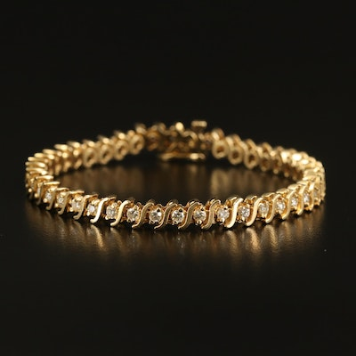 14K 2.45 CTW Diamond Bracelet